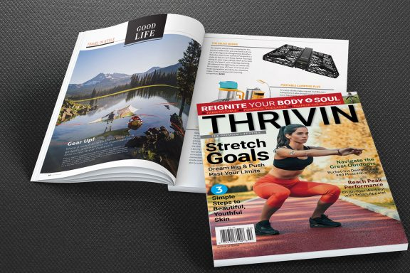 front cover of thrivin magazine winter 2019-2020